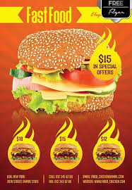 download the fast food menu free flyer template for photoshop