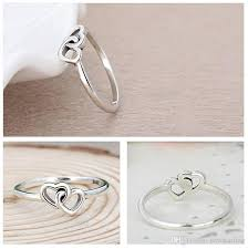 silver pretty rings images 2018 925 sterling silver fashion charm girl gift beautiful cute jpg