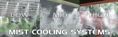 misting system outdoor cooling patio misting industrial