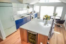 electric blue kitchen cabinets electric blue kitchen boston by metropolitan cabinets