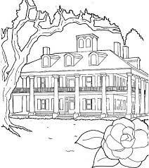 coloring pages houses plantations house in houses coloring page netart