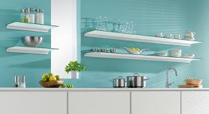etagere en verre pour cuisine tablette en verre différentes formes et épaisseurs regalraum