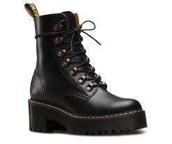 heeled motorcycle boots leona vintage smooth women u0027s boots official dr martens store