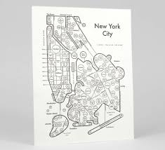 Map Of Long Island New York by New York City Map Print U2014 Archie U0027s Press