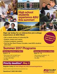 Major Map Asu Summer Experience At West Residential And Non Residential New