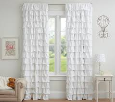 Sheer Ruffled Curtains Daily Find Pottery Barn Tiered Ruffle Sheer Panel Copycatchic