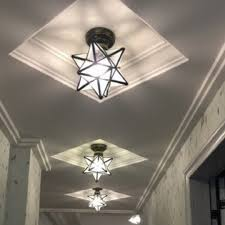 Moravian Star Ceiling Mount by Homestia Flush Mount Moravian Star Ceiling Light Retro Style E26