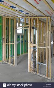 interior new uk energy efficiency passive house building shows interior new uk energy efficiency passive house building shows ducting electrics timber stud partitions