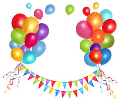 party streamers transparent party streamer and balloons png clipart picture
