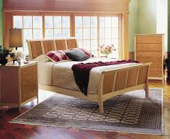 Cherry Sleigh Bed Copeland Furniture Natural Hardwood Furniture From Vermont