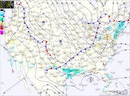 Surface Map Reinforcing Cold Front Crosses Today Cold And Dry This Weekend