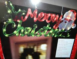 lighted merry christmas yard sign amazon com large lighted hanging merry christmas sign light yard
