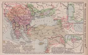 middle east map changes 18th 19th century maps