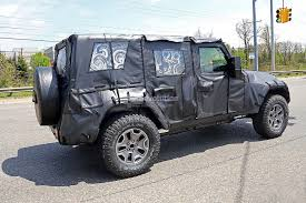 jeep wrangler pickup black 2018 jeep wrangler jl spied shows new hardware autoevolution