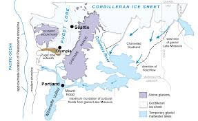 North America Ice Age Map by Okanogan Wa Dnr