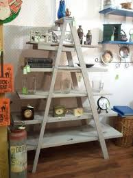 Wooden Ladder Bookshelf Plans by 27 Best Wooden Ladders Images On Pinterest Old Wooden Ladders