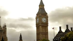 London Clock Tower Big Ben Tower With White Storm Clouds Behind It In London England