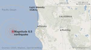 Oregon Tsunami Map by Magnitude 6 5 Earthquake Hits Off Northern California Coast La Times