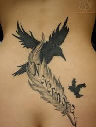 Bird Flying Tatoo 110 Lovely Bird Designs Edgar Allen Poe Feather Tattoos