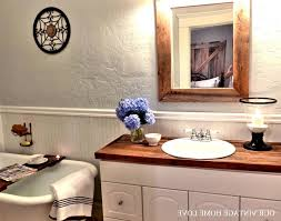 Bathroom Vanities With Sitting Area by Reclaimed Wood Bathroom Vanity Top Brown Stained Wooden Vanity