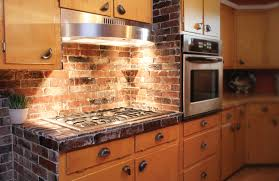 Veneer Kitchen Backsplash Vintage Brick Veneer Counter Backsplash And Cabinet Whitehall