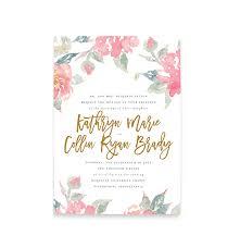 watercolor wedding invitations watercolor floral wedding invitations free shipping blush