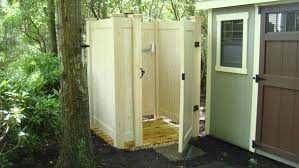Outdoor Shower Room - dumpster enclosures outdoor showers and more made out of vinyl