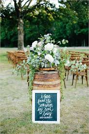 Small Backyard Reception Ideas Rustic Whiskey Barrel Backyard Wedding Aisle Decor Deer Pearl