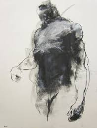 contemporary artist drawing contemporary male figure drawing