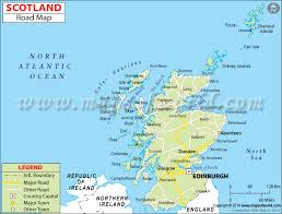 road map sle geography detailed map of scotland