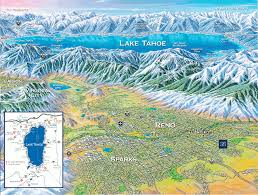 Nevada City Map Reno Tahoe Map University Of Nevada Reno Online Visitor U0027s Guide