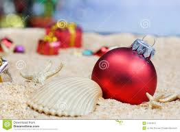 beach christmas ornaments stock images image 21284014