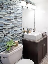 blue and brown bathroom ideas photos hgtv cotentemporary bathroom with blue sea glass tile