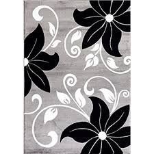 black and white rugs amazon com