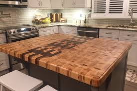 kitchen island construction custom 2 x3 kitchen island top end grain construction using