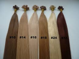 Color Hair Extension by Auburn Red Color Nail Tip U Tip Fusion Remy Human Hair Extension