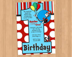 dr seuss birthday invitations dr suess 1st birthday cimvitation