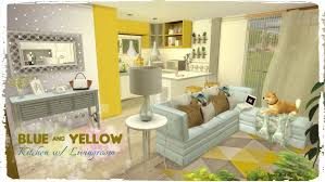 Blue And Yellow Kitchen Curtains Decorating Apartments Sims Blue Yellow Kitchen Living Room Build And Images