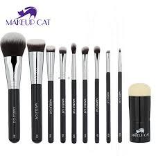 professional makeup tools makeup cat professional makeup brush set 10pcs high quality makeup