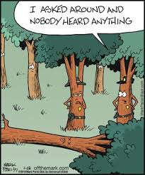 if a tree falls in the forest comic humor