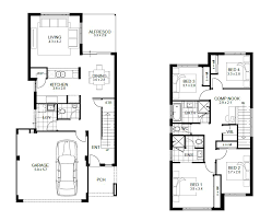 two story home floor plans baby nursery narrow two story house plans the best narrow lot