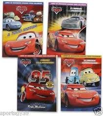 disney pixar cars spanish coloring book 4 colors 96 libro