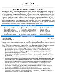 Fake Resume Example by Technology Director Resume Example It Integration