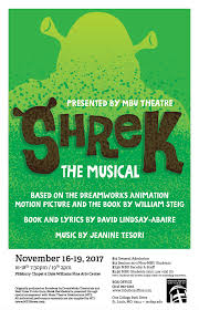 mbu theatre presents shrek musical