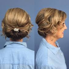 soft updo hairstyles for mothers 40 ravishing mother of the bride hairstyles low rolled updo