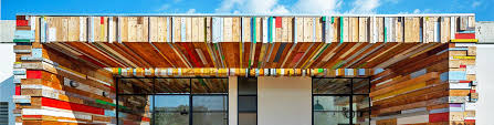 israel s striking laho house is wrapped with colorful reclaimed