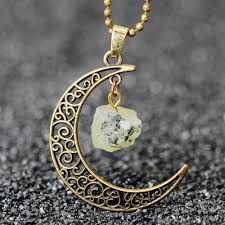 crystal necklace store images Natural healing crystal moon pendant necklace atperrys jpg