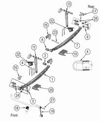 jeep cj suspension parts exploded view diagram years 1976 1986