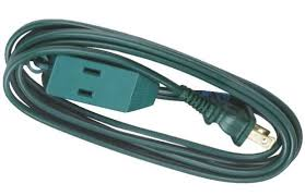 6 tree light extension power cord 16 2 3 outlet tap