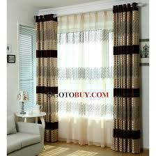 Striped Living Room Curtains by Classic Stripe And Leaf Pattern Velvet Living Room Curtains Buy